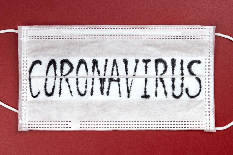 Coronavirus Written on Mask