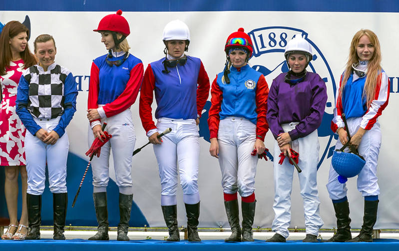 Group of Female Jockeys