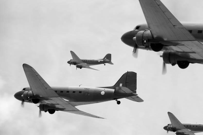 Flight of Transport Planes During World War II