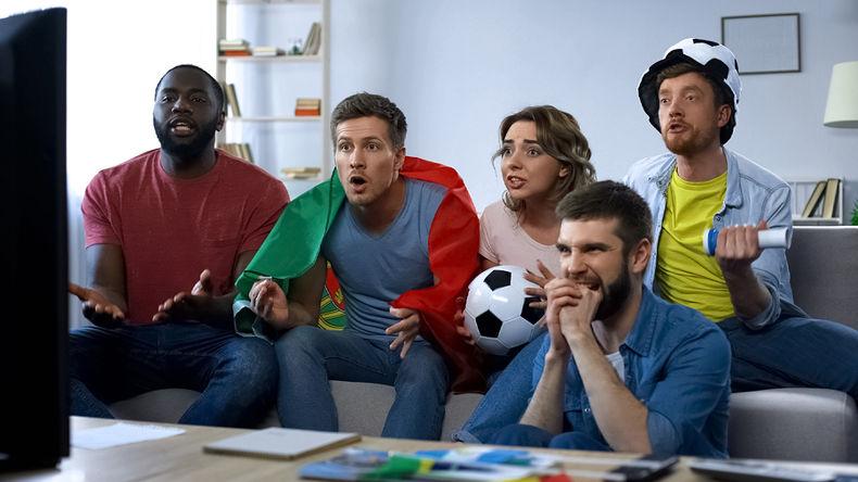 Football Fans Watching Match