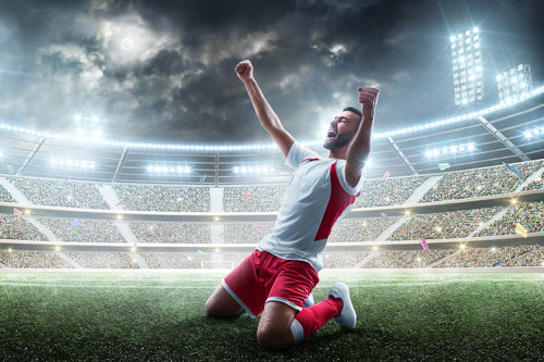 Football Player Celebrating - 500px