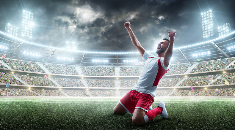 Football player celebrating