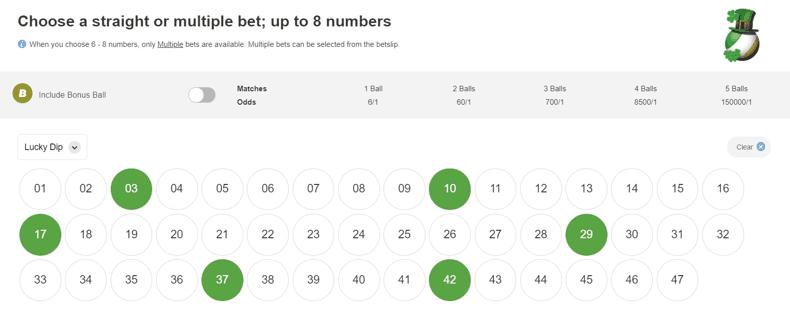 Irish Lotto Screenshot