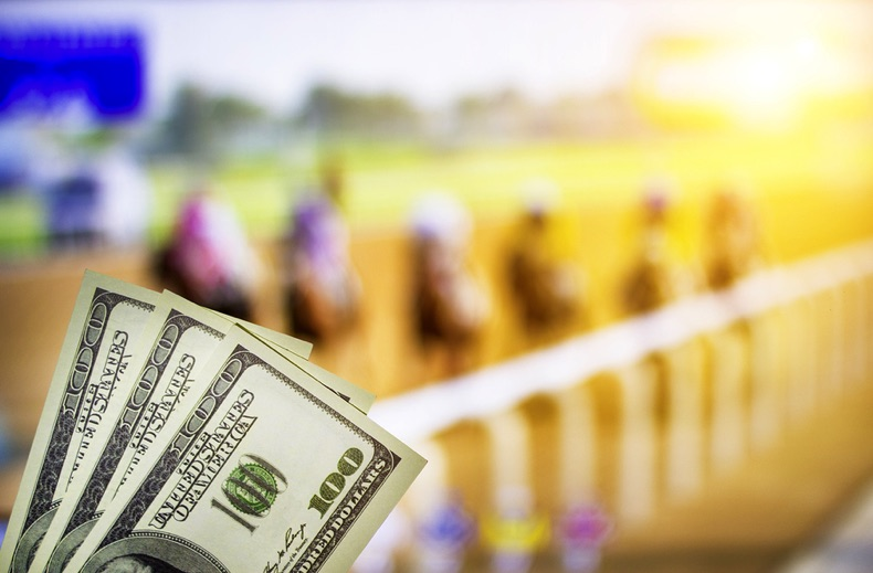 Money at a horse race