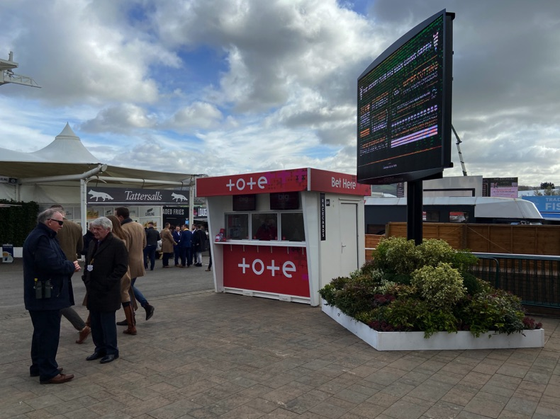 Tote stand at the Cheltenham Festival