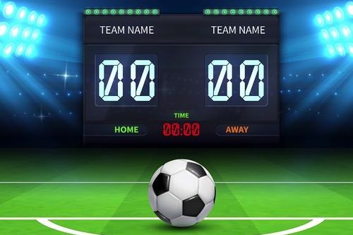 Football scoreboard draw