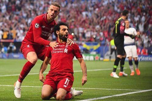 Salah & Henderson of Liverpool