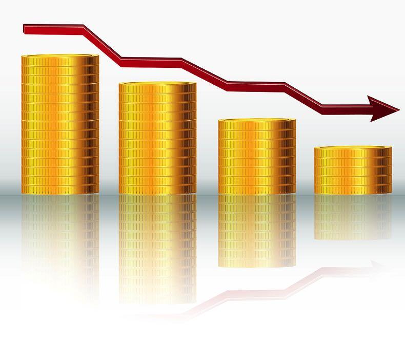 Financial revenue going down