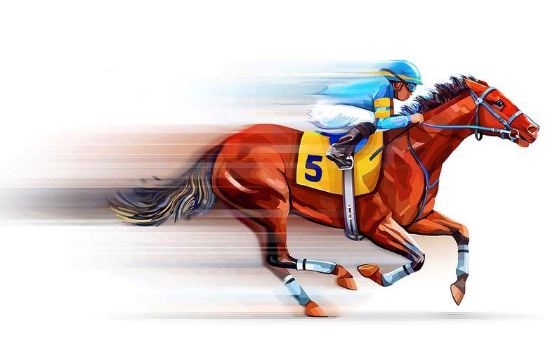 Jockey & horse blur