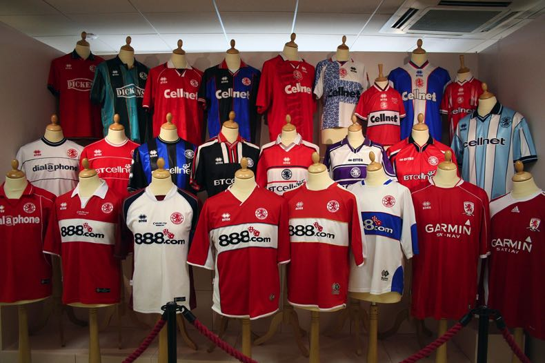 Middlesborough F.C. football shirt sponsors across the years