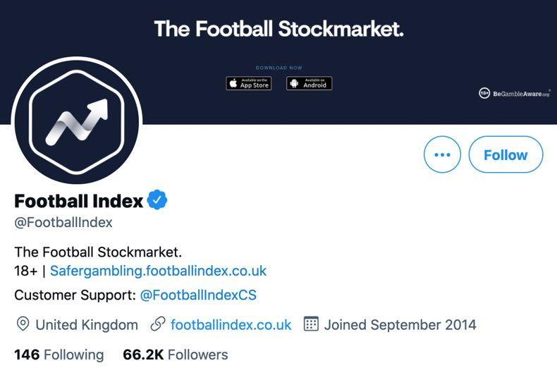 Football Index Twitter account