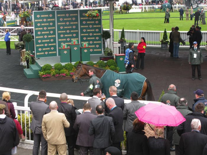 The winner's enclosure at Aintree