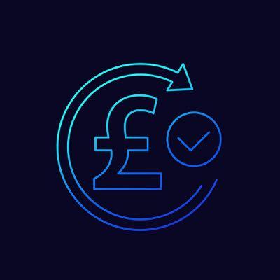 British pound refund concept