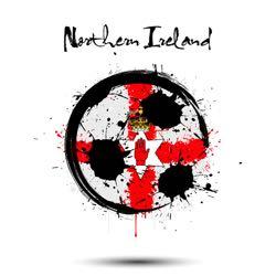 Abstract Northern Ireland football flag