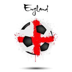 England abstract football flag