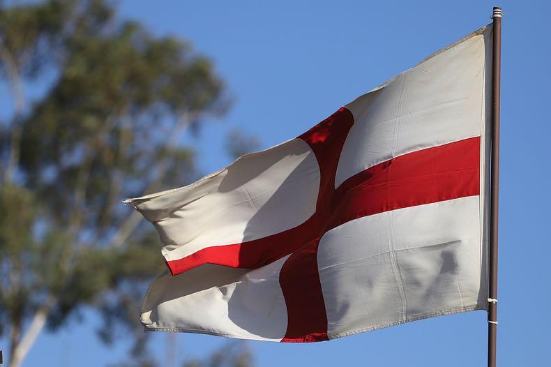 England flag flying