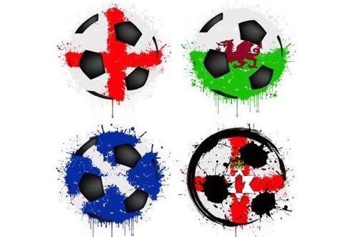 Home nations abstract footballs