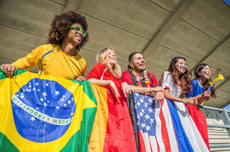 Olympic fans from around the world