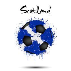 Scotland abstract football flag