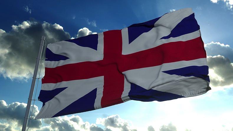 United Kingdom flag flying