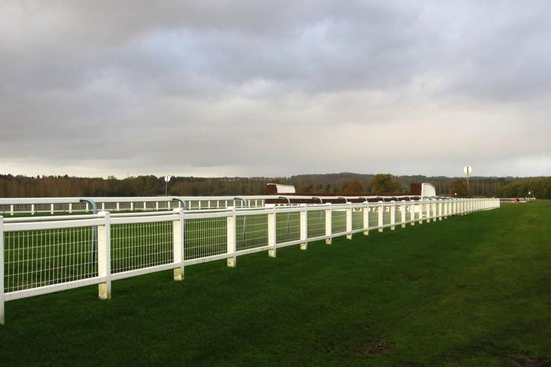 Towcester Racecourse jump