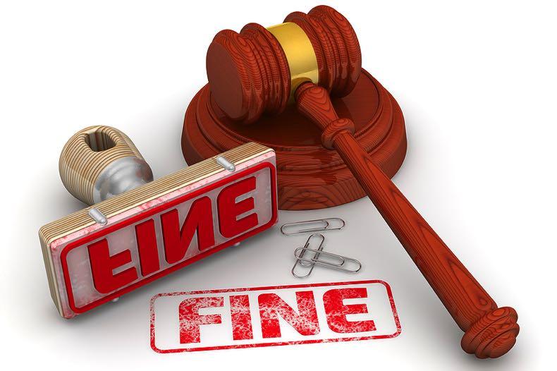 Fine with judge's gavel